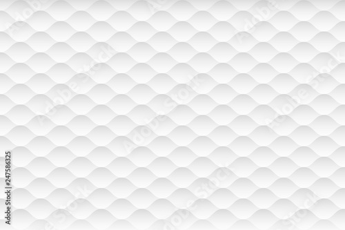 Abstract white and gray texture background. 3d curve seamless pattern. Vector illustration - 247586325