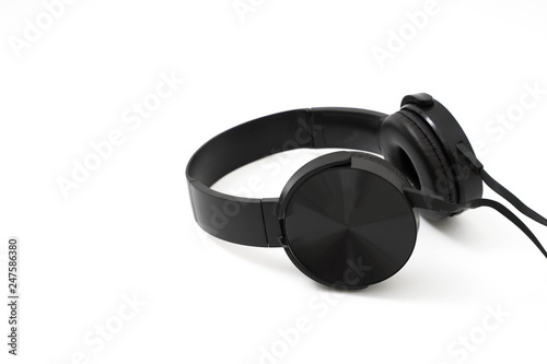Fotografia  headphones earphones realistic black headphones