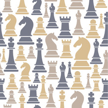 Seamless Pattern With Chess Pi...