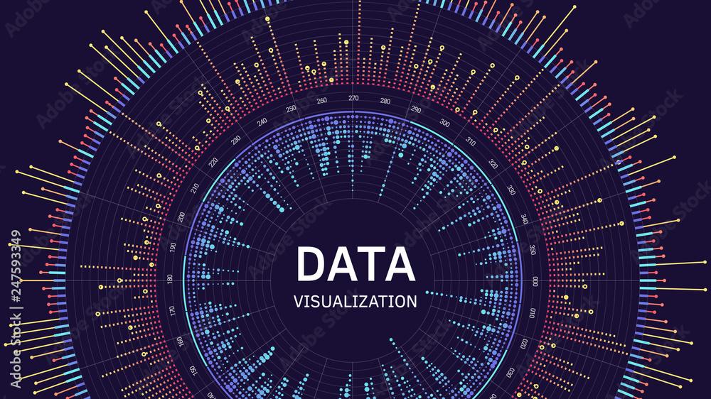 Fototapety, obrazy: Data visualization concept. Infographics design. Analytics concept background.