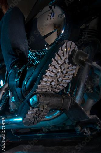 Photo  Biker Boots Tread