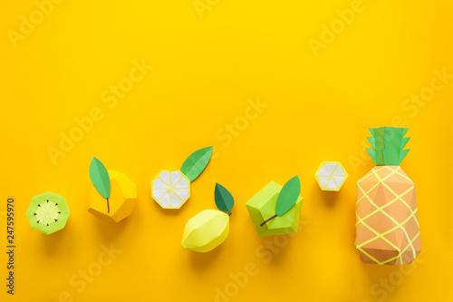 Fotografie, Obraz  Fruit made of paper
