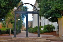Famous Arch Entrance To The University Of Georgia Athens Campus