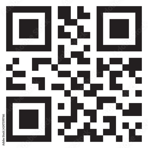Fotografie, Obraz  Sample qr code icon