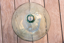 Green Demijohn Upside View