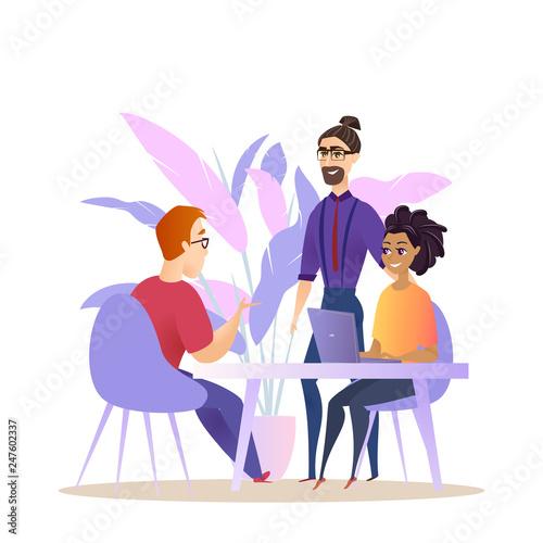 Photo  Business People Group Brainstorm Conversation