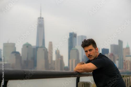 Fotografie, Obraz  Hombre en New York