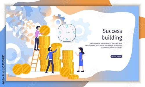 Fotografía  Perspective Investment Project Vector Website