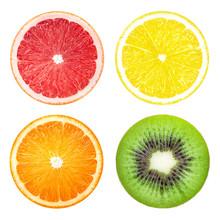 Lemon Grapefruit Kiwi Orange Slice