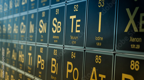 periodic table of elements Fototapet
