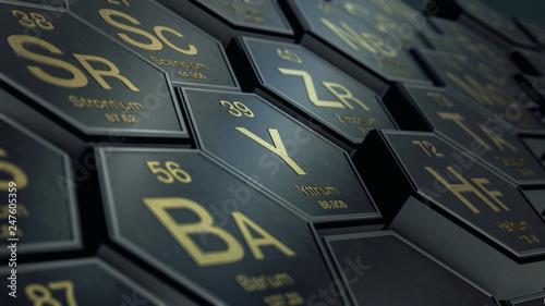 Fotografie, Tablou  table of elements