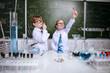 children in laboratory
