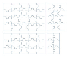Sets Of Puzzle Pieces Vector I...