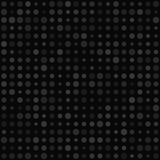 Abstract seamless pattern of small circles or pixels in various sizes in gray and black colors - 247613719