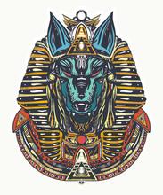 Anubis Tattoo And T-shirt Desi...