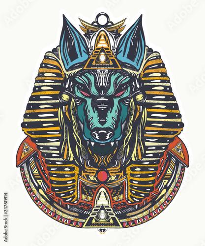 Anubis tattoo and t-shirt design Wallpaper Mural