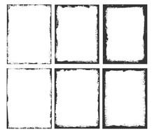 Set Of Grunge Border Frames