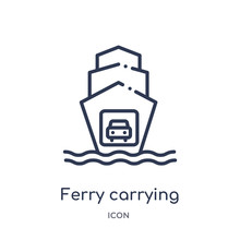 Ferry Carrying Cars Icon From ...
