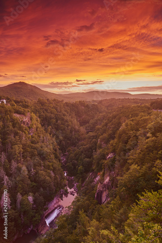 Fototapeta Sunset at Tallulah Gorge State Park, GA