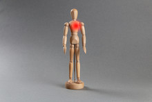 Wooden Mannequin With A Heart Condition.