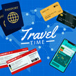 Boarding pass ticket template. Airplane ticket. online Booking airline ticket concept. Vector