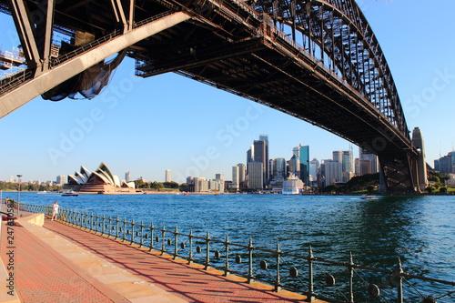 Sydney Harbor Bridge at sunset -  Australia © reindo
