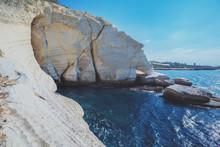 White Rocks. Rosh HaNikra Coastline, Israel