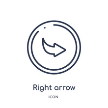 Right Arrow With Turn Icon Fro...