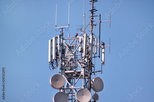Photo  Telecommunication network repeaters, base transceiver station