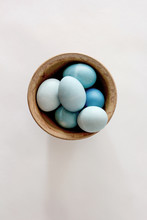 Colored Easter Eggs In A Bowl