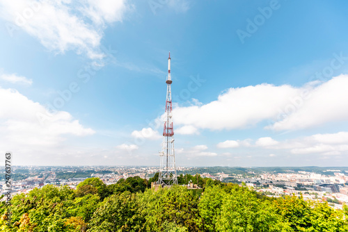 Fotografie, Obraz  Lviv, Ukraine cityscape skyline in historic Ukrainian city in old town buildings