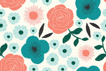 Seamless Floral Pattern With V...