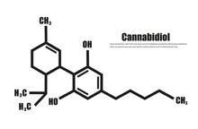 Cannabidiol Or CBD Molecular Structural Vector