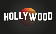Hollywood Text Vector Logo