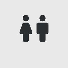 Male And Female Vector Icon