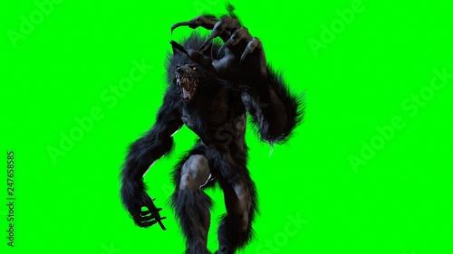 Obraz na płótnie werewolf 3d render
