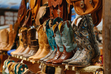 Stylish Western Boots On A She...