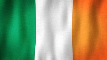 Ireland Flag Waving In The Win...