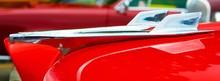 Close Up Of Vintage Car Hood O...
