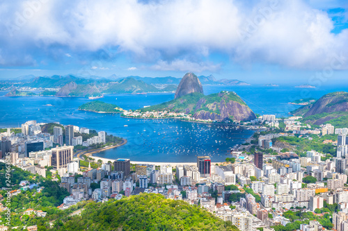 Photo  Beautiful cityscape of Rio de Janeiro city with Sugarloaf Mountain and Guanabara