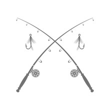 Fishing Rod Silhouette With Fi...