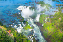Beautiful Aerial View Of Iguaz...