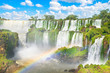 Beautiful view of Iguazu Falls from argentinian side, one of the Seven Natural Wonders of the World - Puerto Iguazu, Argentina