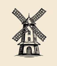 Windmill Logo Or Label. Agricu...