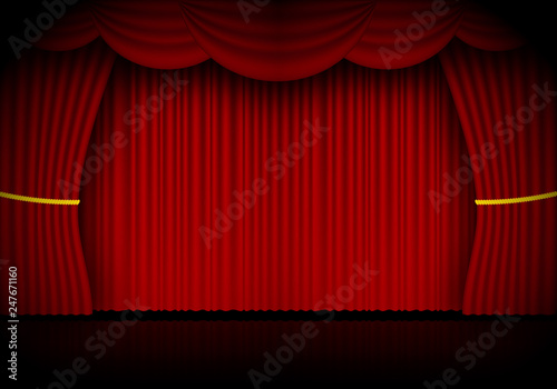 Printed kitchen splashbacks Theater Red curtain opera, cinema or theater stage drapes
