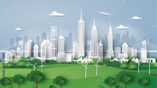 City panorama skyline with urban