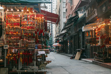 Lascar Row In Hong Kong With Vintage Stuff Stall