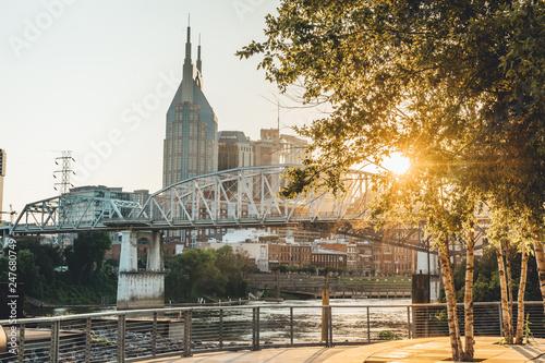 Fotografie, Obraz  Downtown Nashville Sunset