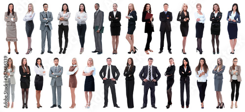 Fotografie, Obraz  successful business people isolated on white background