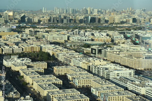 Photo  View of old Dubai from the Observation deck on the 124th floor of Dubai Frame in